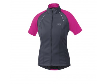 GORE BIKE WEAR PHANTOM 2.0 WS SO zip-off jacket for women graphite grey/magenta
