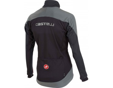 Castelli MORTIROLO REFLEX WINDSTOPPER softshell jacket anthracite/red/REFLEX