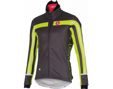 Castelli FREE 3 WINDSTOPPER softshell jacket anthracite/yellow fluo