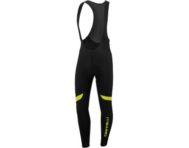 Castelli VELOCISSIMO thermal bib tights black/yellow fluo