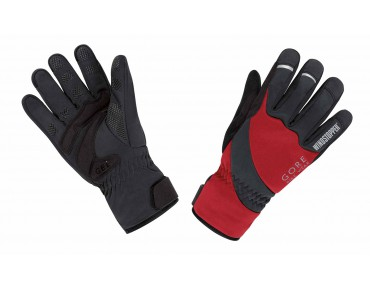 GORE BIKE WEAR UNIVERSAL WINDSTOPPER thermal gloves red