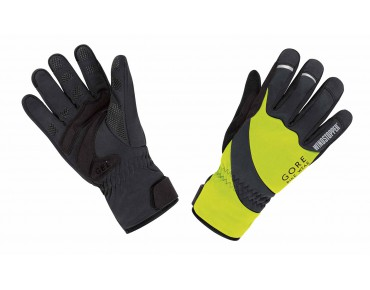 GORE BIKE WEAR UNIVERSAL WINDSTOPPER thermal gloves neon yellow