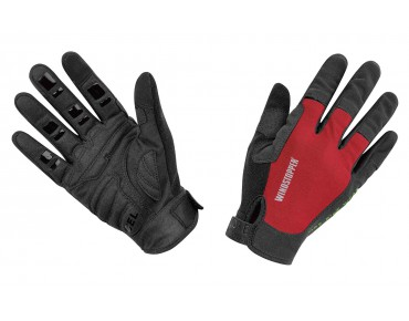 GORE BIKE WEAR POWER TRAIL WINDSTOPPER gloves red