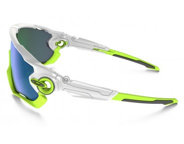 OAKLEY JAWBREAKER sports glasses polished white w/jade iridium