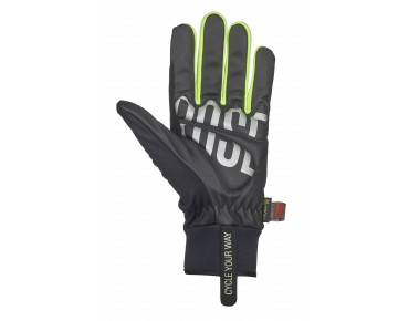 ROSE WIND gloves black/yellow fluo