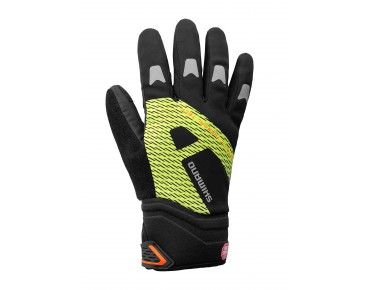 SHIMANO WINDSTOPPER Thermo Reflective winter gloves neon gelb