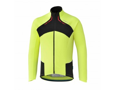 SHIMANO PERFORMANCE thermal long-sleeved jersey neon yellow
