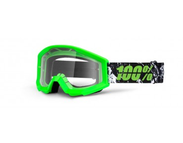 100% STRATA YOUTH kids' goggles crafty lime