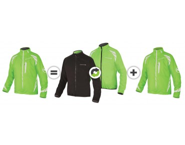 ENDURA LUMINITE 4in1 Regenjacke hi-viz green