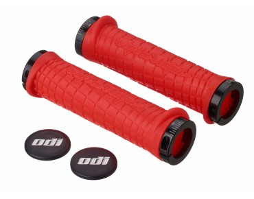 ODI Troy Lee Design Bonus Pack grips orange/schwarze Klemmringe