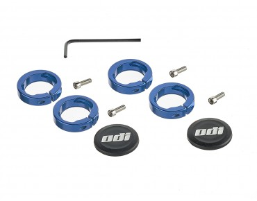 ODI Lock Jaws handlebar clamps blau