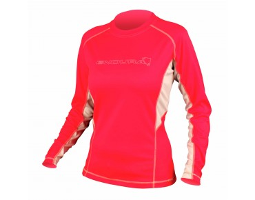 PULSE women's long-sleeved bike shirt coral