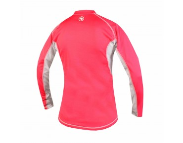 ENDURA PULSE women's long-sleeved bike shirt coral