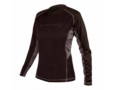 ENDURA PULSE Damen Langarm Bikeshirt black/grey