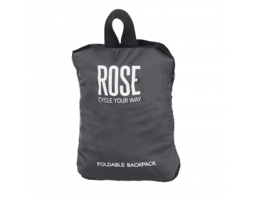 ROSE Foldable backpack black/grey