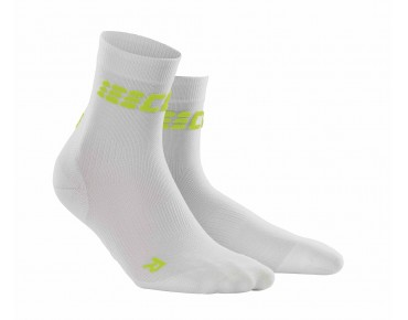 cep ULTRALIGHT SHORT Socken white/green