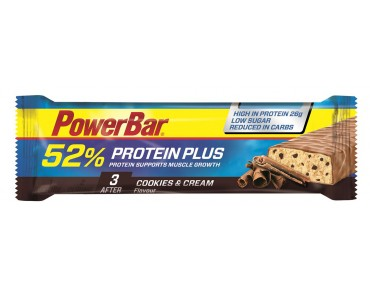 PowerBar 52% Protein Plus Riegel Cookies & Cream