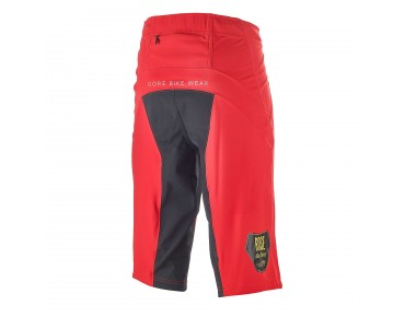 GORE BIKE WEAR ALP-X PRO WINDSTOPPER Soft Shell Shorts Team Design red