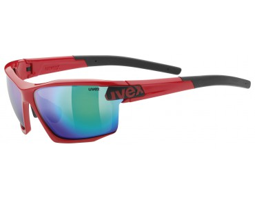 uvex sportstyle 113 glasses red/mirror green