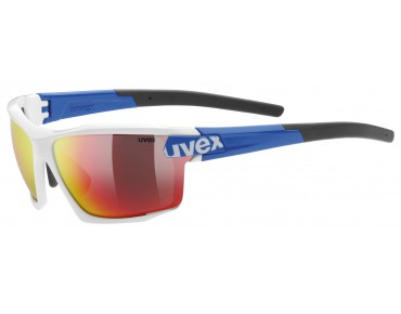 uvex sportstyle 113 glasses white blue/mirror red