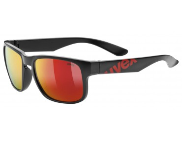 uvex lgl 22 Brille black mat red/mirror red