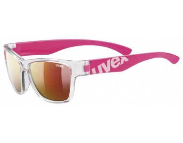 uvex SPORTSTYLE 508 kids' glasses clear pink/mirror red