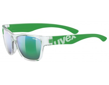 uvex SPORTSTYLE 508 kids' glasses clear green/green mirror