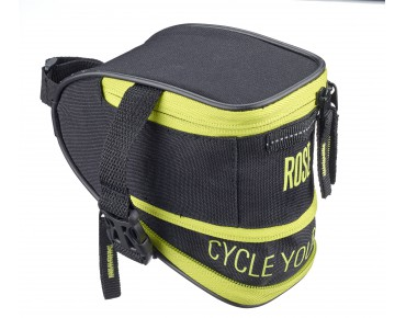 ROSE CYW saddle bag black/lime