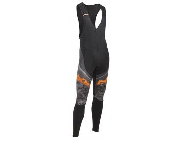 NORTHWAVE EXTREME GRAPHIC Thermo Windschutz Trägerhose black/camo/orange fluo