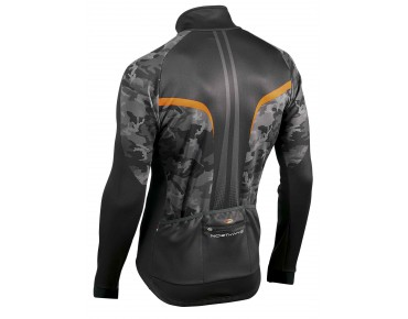 NORTHWAVE EXTREME GRAPHIC thermal windbreaker jacket black/camo/orange fluo