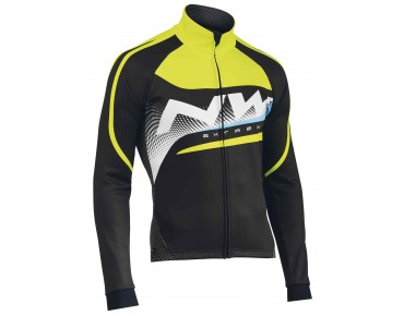 NORTHWAVE EXTREME GRAPHIC Thermo Windschutz Jacke black/yellow fluo