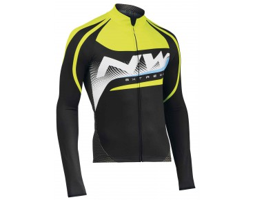 NORTHWAVE Thermo Trikot langarm EXTREME GRAPHIC black/yellow fluo