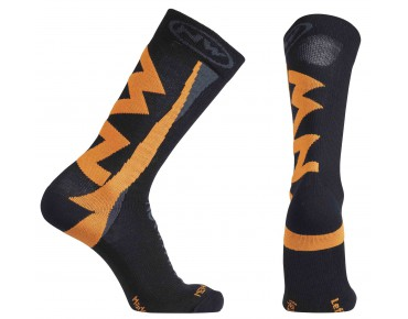 NORTHWAVE EXTREME WINTER socks black/orange fluo