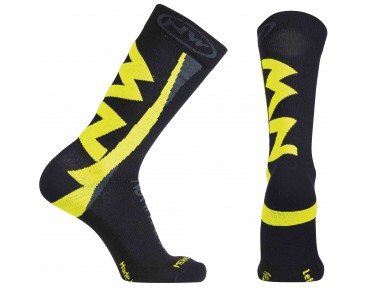 NORTHWAVE EXTREME WINTER socks black/yellow fluo