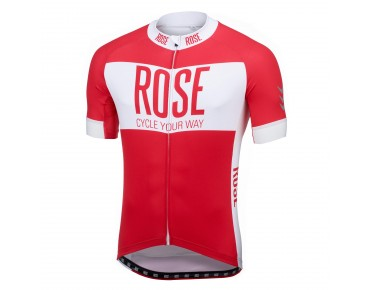 ROSE LINE short-sleeved jersey red/white