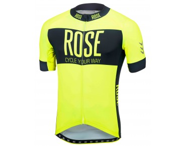 LINE short-sleeved jersey fluo yellow/black