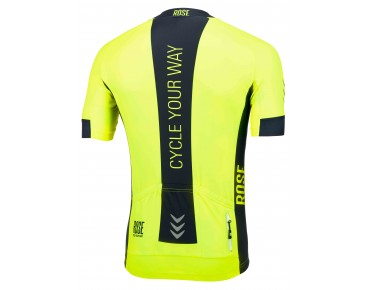 ROSE LINE short-sleeved jersey fluo yellow/black