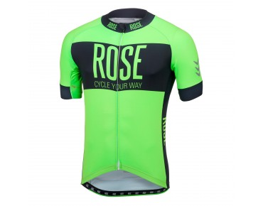 LINE short-sleeved jersey fluo green/black