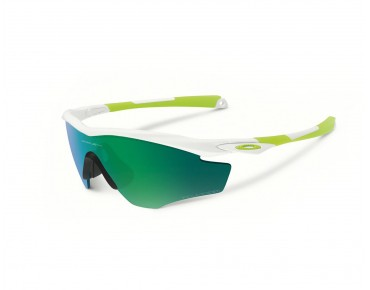 OAKLEY M2 Frame sports glasses polished white w/jade iridium polarized