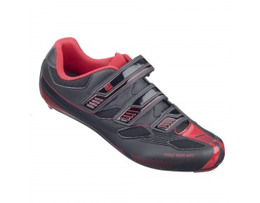 ROSE RRS 11 - scarpe bici da strada black/red