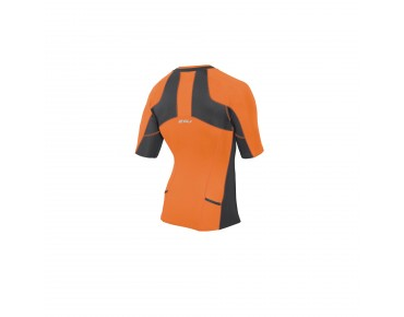 2XU COMPRESSION SLEEVED tri top ink/sunburst orange