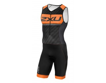 2XU PERFORM PRO trisuit black/sunburst orange