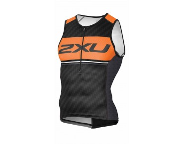 2XU PERFORM PRO tri top black/sunburst orange