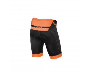 2XU PERFORM PRO tri shorts black/sunburst orange