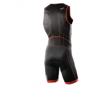 2XU PERFORM FRONT ZIP trisuit black/dessert red