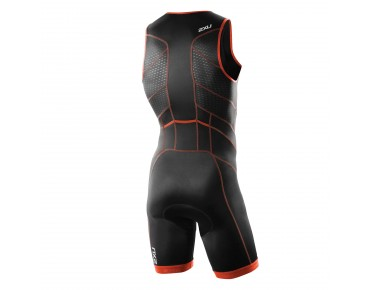 2XU PERFORM FRONT ZIP trisuit desert red print/black