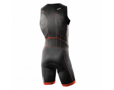 2XU PERFORM FULL FRONT ZIP 2016 Trisuit desert red print/black