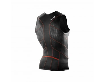 2XU PERFORM 2016 tri top black/dessert red