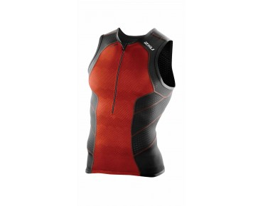 2XU PERFORM 2016 tri top desert red print/black