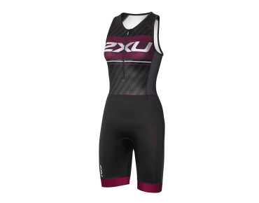 2XU PERFORM PRO women's trisuit black/barberry